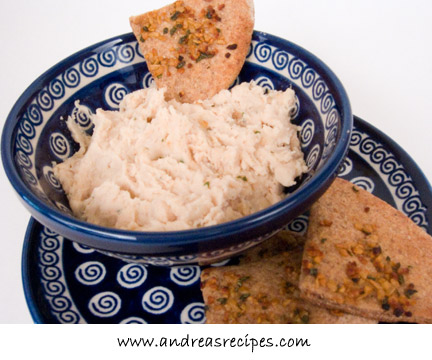 Cannellini Bean Dip with Herbed Pita – Andrea Meyers