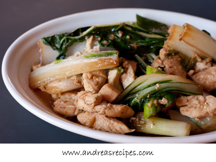 CHICKEN BOK CHOY RECIPE