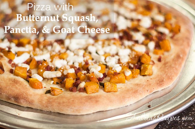Butternut Squash Pizza with Pancetta, Goat Cheese, and Sage – Andrea ...