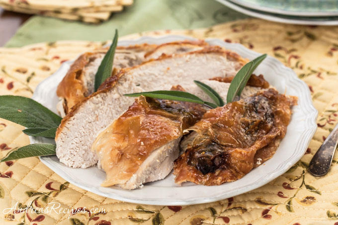 Sage-Roasted Turkey Breast Recipe - Andrea Meyers