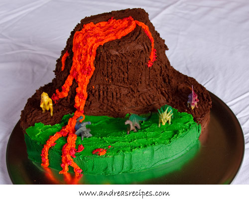 for top gun s fifth birthday he requested a volcano birthday cake with ...